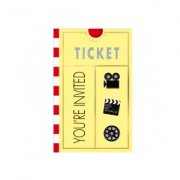 8 Invitations ticket de cinéma