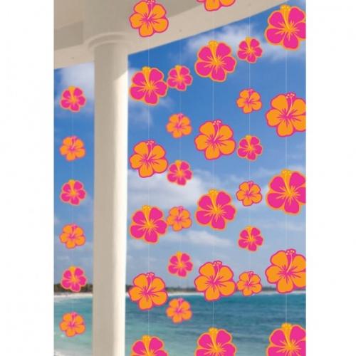 Décorations à Suspendre Hibiscus Orange/Rose