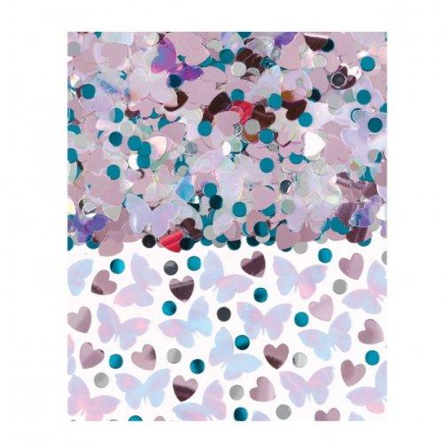 """Confettis """"Pièce montée"""" Rose/Bleu/Argent"""