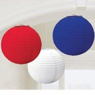 Lanternes Boules japonaises Tricolores