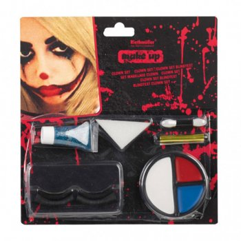 Set Maquillage et Faux cils Clown Halloween
