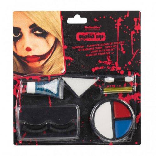 Set Maquillage et Faux cils Clown Halloween