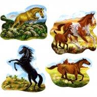 Set de 4 décors chevaux