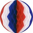 Boule Papier Tricolore 3D
