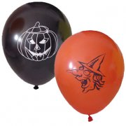 6 Ballons Sorci�re et Citrouille