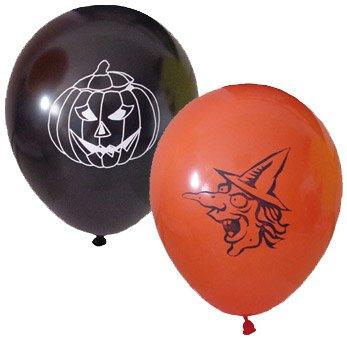 6 Ballons Sorcière et Citrouille