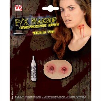 Maquillage latex morsure de vampire pour l 39 anniversaire de votre enfant annikids - Maquillage vampire enfant ...