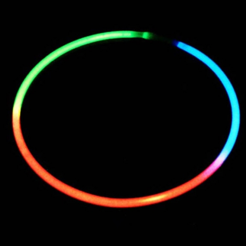50 Colliers Lumineux Fluo Tricolore