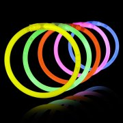 100 Bracelets Lumineux Fluo Rouge