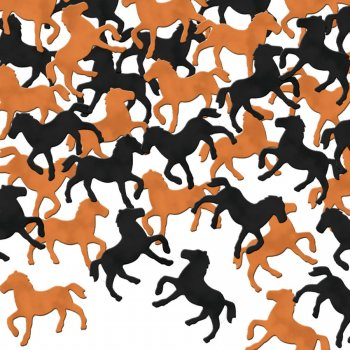 Confettis chevaux