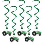 5 Guirlandes Spirales Tracteurs