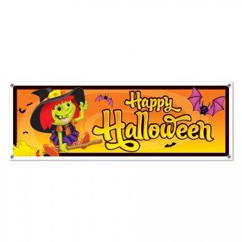affiche murale happy halloween pour l 39 anniversaire de votre enfant annikids. Black Bedroom Furniture Sets. Home Design Ideas