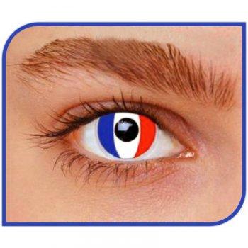 Lentilles Drapeau France (1 mois)