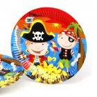 6 Assiettes Bande de Pirates