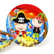 6 Assiettes Bande de Pirates