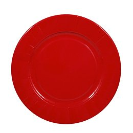 6 assiettes rouges