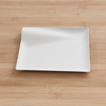 Assiettes Fibre Wave carrées 15 cm