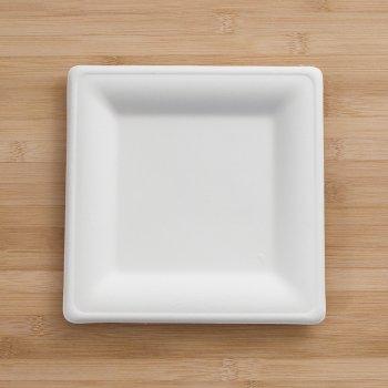 Assiettes Fibre Karo carrées 20 cm