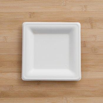 Assiettes Fibre Karo carrées 16 cm