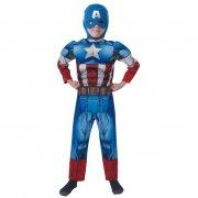 Déguisement de Captain America Avengers Assemble Luxe Taille 5-6 ans