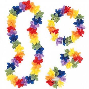 Set hawaïenne à Fleurs Rainbow