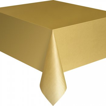 Nappe Unie Or - Plastique
