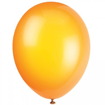 50 Ballons Crystal Orange Agrumes