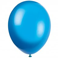 50 Ballons Crystal Bleu Royal