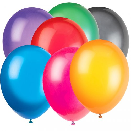 50 Ballons Crystal Multicolore