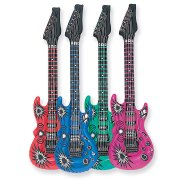 Guitare gonflable 4 couleurs