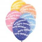 5 Ballons Happy Birthday