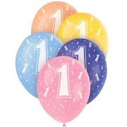 5 Ballons perl�s age 1