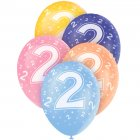 5 Ballons perl�s age 2