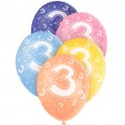 5 Ballons perl�s age 3