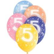 5 Ballons perlés age 5