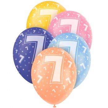 5 Ballons perlés age 7