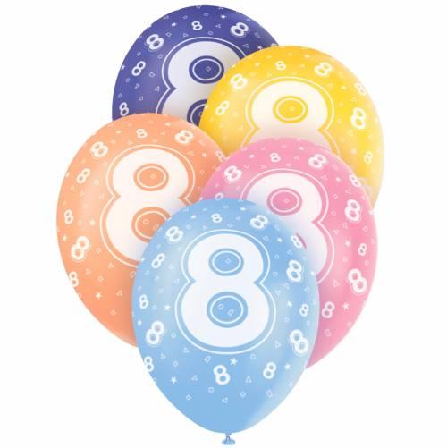 5 Ballons perlés age 8