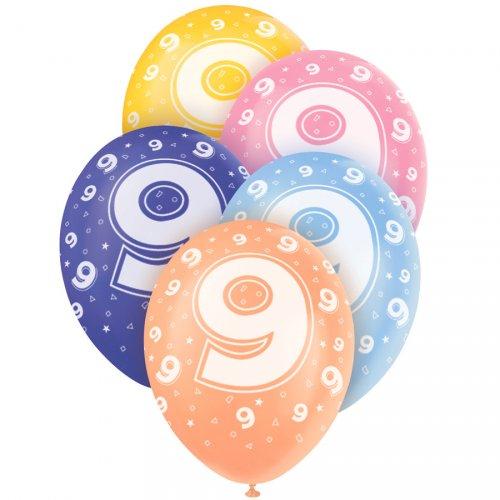 5 Ballons perlés age 9