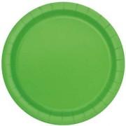 16 Assiettes Vert Pomme