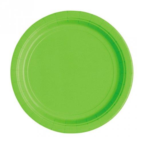 20 Petites Assiettes Vert Pomme