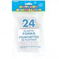 24 Fourchettes Blanches