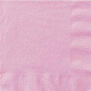 20 serviettes roses P�le
