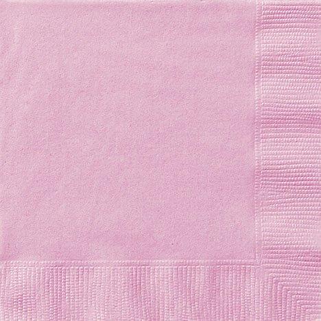 20 serviettes roses Pâle