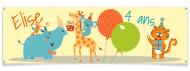 Bannière à personnaliser - Girafe Happy Birthday