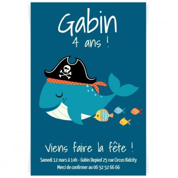 Invitation à personnaliser - Pirate Ahoy!