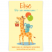 Invitation à personnaliser - Girafe Happy Birthday. n°1