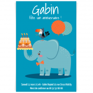 Invitation à personnaliser - Jungle Happy Birthday