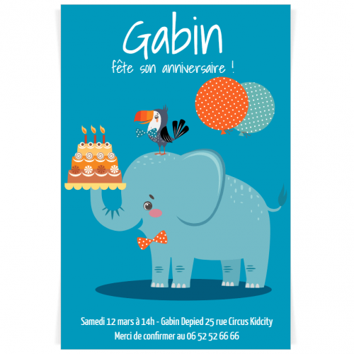 Invitation à personnaliser - Jungle Happy Birthday