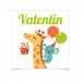 8 Tatouages à personnaliser - Girafe Happy. n°2