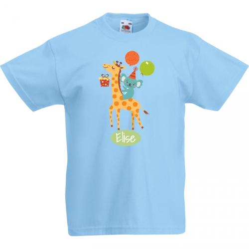 T-shirt à personnaliser - Girafe Happy Birthday